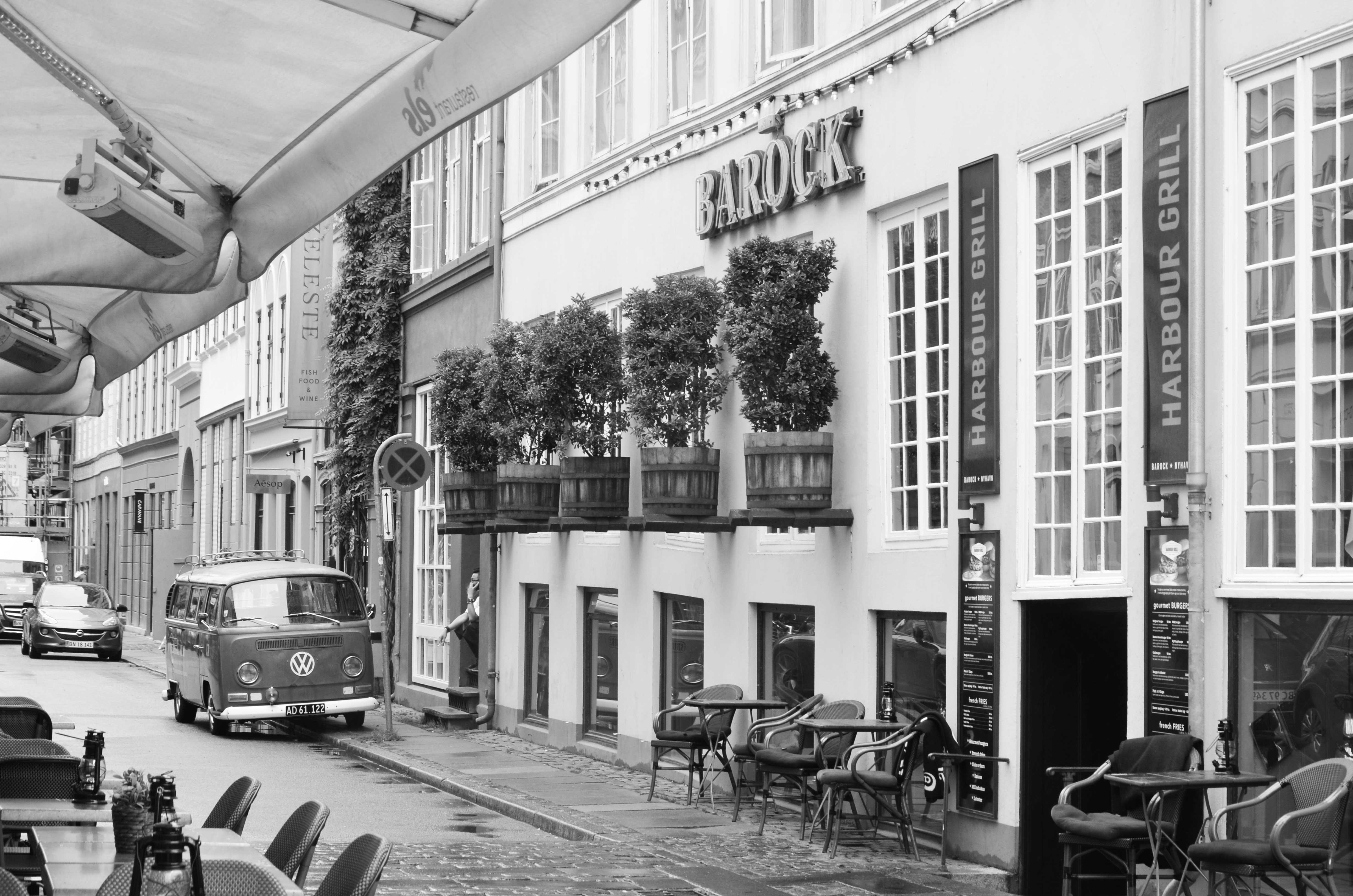 Straßencafé in Nyhavn