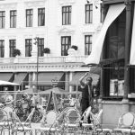 Cafébesitzer in Nyhavn.