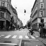 Straßenkreuzung bei Nyhavn.